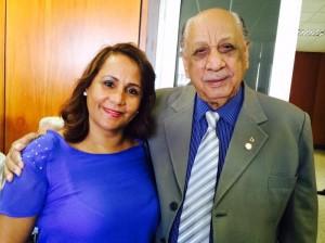 Bena Domingos e seu pai Benedito Domingos. Política no sangue.